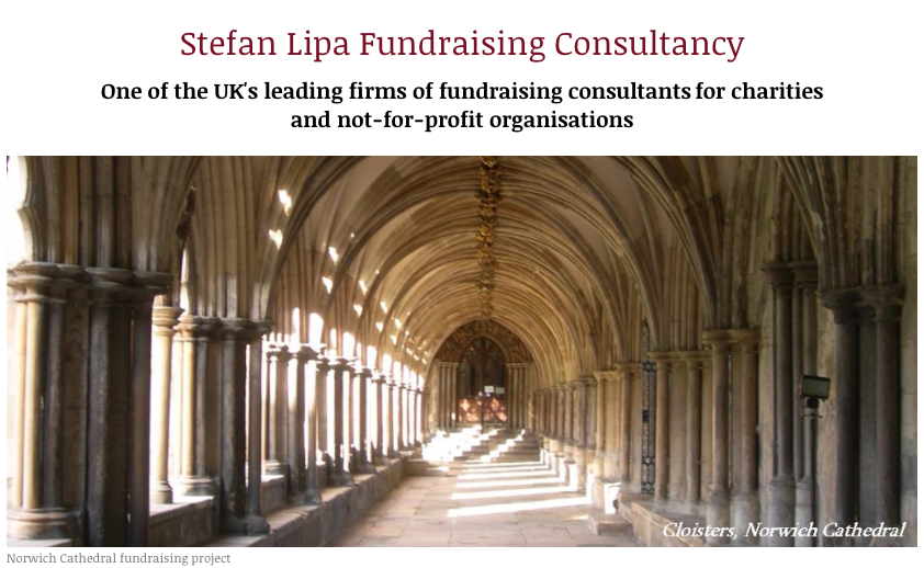 Stefan Lipa Consult for Funds for Norwich Cathedral