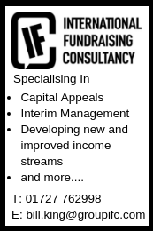 The IFC specialise in capital appeals, interim management, developing new and improved income streams and more...